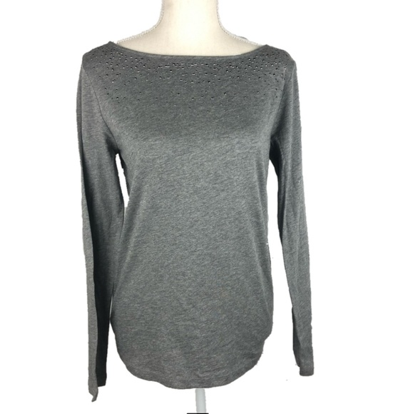 LOFT Tops - LOFT Embellished Long Sleeve Top